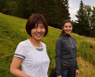 Meine japanische Freundin Yuyu bei mir auf der Alm