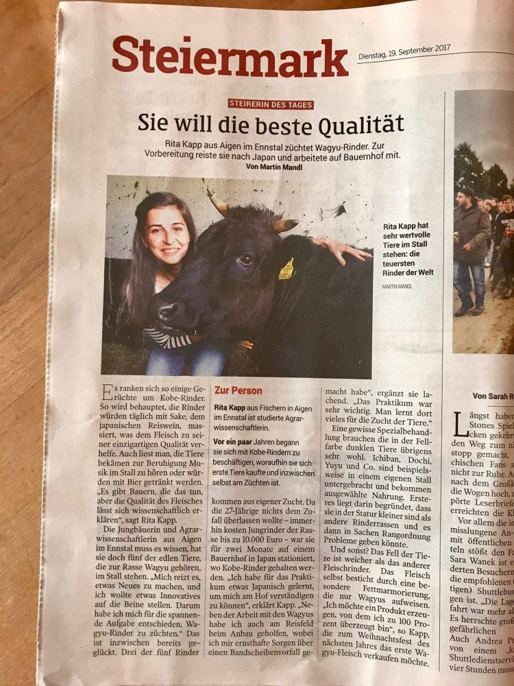 Kleine Zeitung Artikel 19.092017